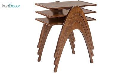 Picture of میز عسلی نیک آذین مدل رافایل مجموعهی 3 عددی