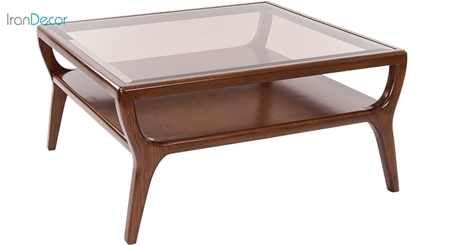 Picture of میز جلومبلی نیک آذین مدل جنوا صفحه شیشه ای - سایز 90×90