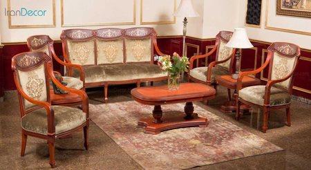 سرویس مبلمان کلاسیک مدل پراگا از رافل