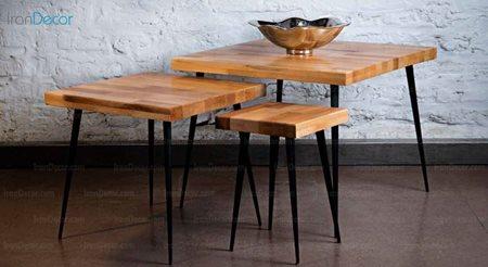 میز عسلی سه تکه مدل 8060 از سان هوم