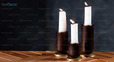 شمعدان چوبی مدل  W3051 از سان هوم