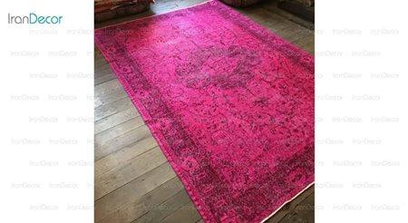 فرش وینتیج صورتی از فرش لیا