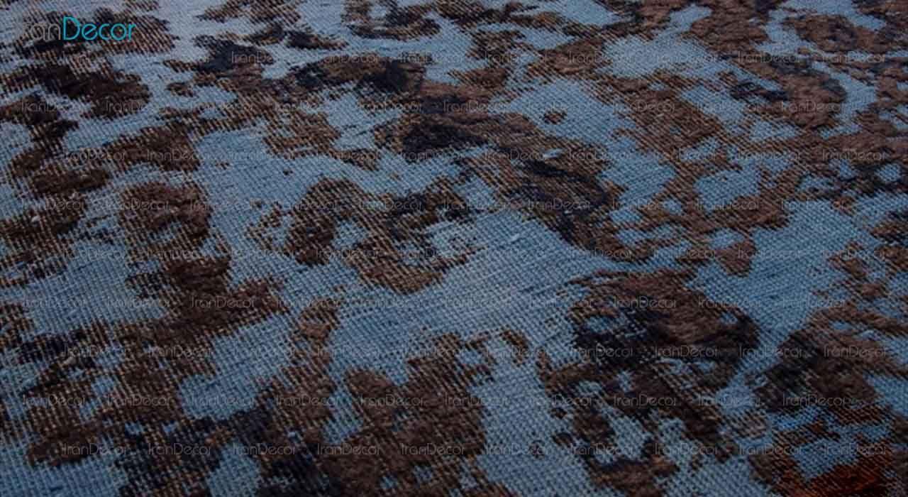 فرش تکه دوزی دستباف مشکی از فرش لیا