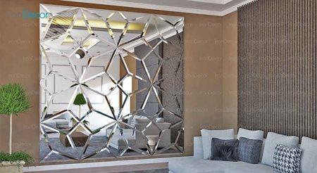 آینه دکوراتیو مدل ساویس از آینه و شیشه آریا