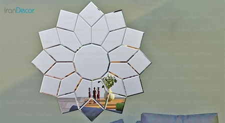 آینه دکوراتیو مدل سولار از آینه و شیشه آریا