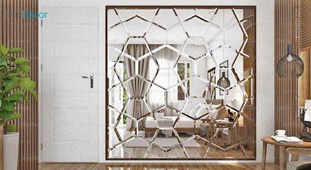 آینه دکوراتیو مدل شفق از آینه و شیشه آریا