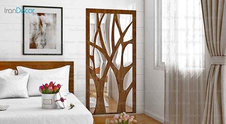 آینه دکوراتیو مدل شاخسار از آینه و شیشه آریا