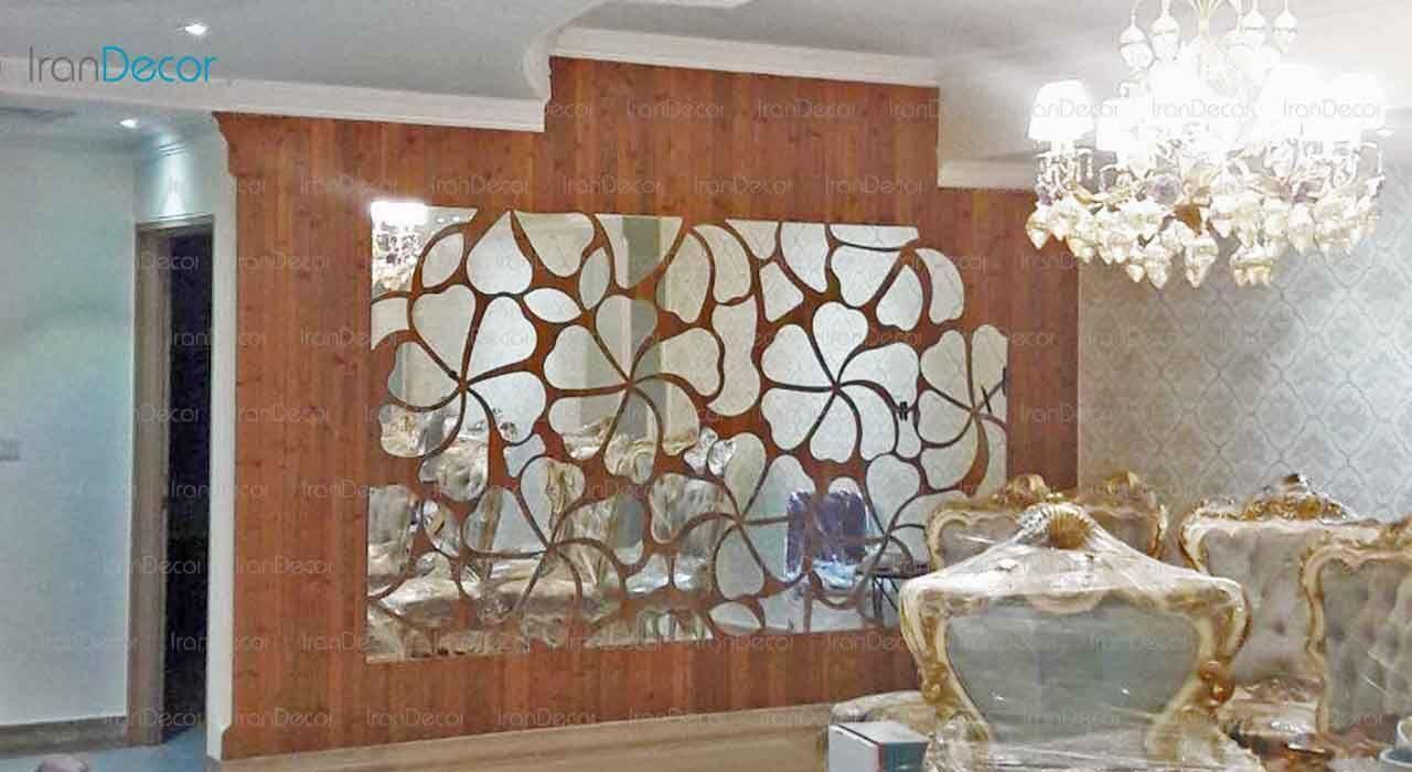 آینه دکوراتیو مدل گل از آینه و شیشه آریا