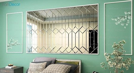 آینه دکوراتیو مدل نیزه ای از آینه و شیشه آریا