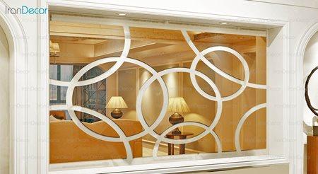 آینه دکوراتیو مدل ماندلا از آینه و شیشه آریا