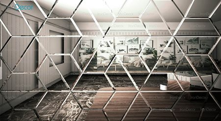آینه دکوراتیو مدل سه وجهی از آینه و شیشه آریا