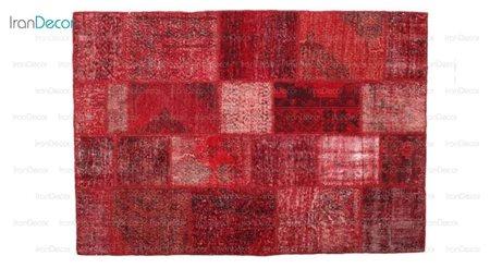 فرش وینتیج قرمز از فرش لیا