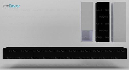 میز تلویزیون و باکس دیواری مدل WS_04 از مبلمان سگال