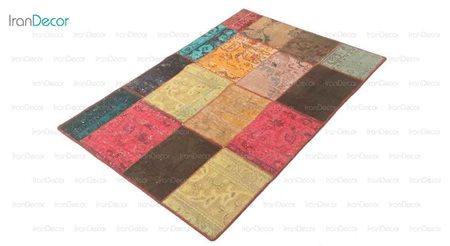 فرش دستباف تکه دوزی رنگین از فرش لیا