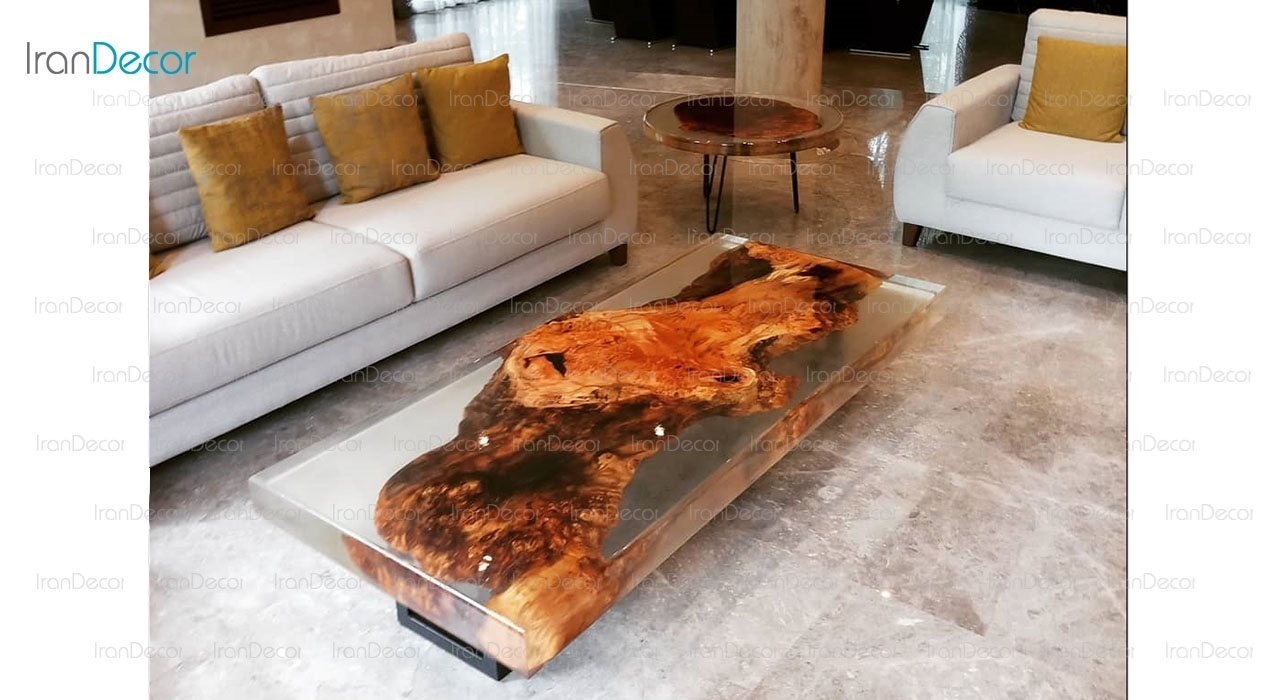 میز جلو مبلی چوب و رزین مدل 3161 از ویترا
