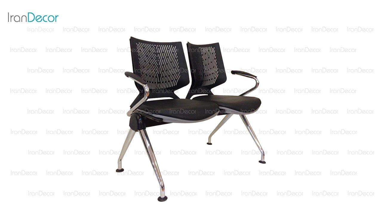 صندلی انتظار دو نفره دسته دار وينر II مدل P222G از صنایع نظری