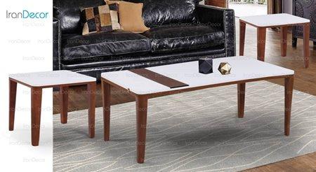 سرویس میز جلو مبلی مدل بارکد از میشا چوب