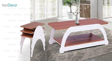 سرویس میز جلو مبلی مدل یو از میشا چوب