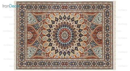 فرش ماشینی مدل گنبدی کِرِم رنگ از کرامتیان