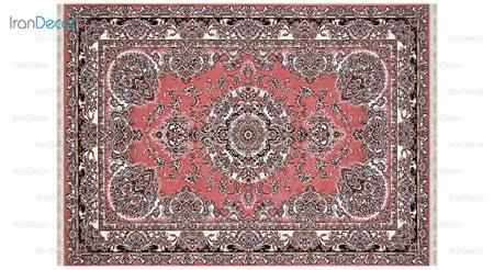 فرش ماشینی مدل سلطانی گلبهی رنگ از کرامتیان