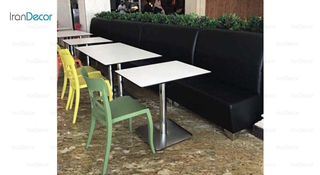 مبل رستورانی دو نفره مدل لمسه کد F103L از صنایع نظری