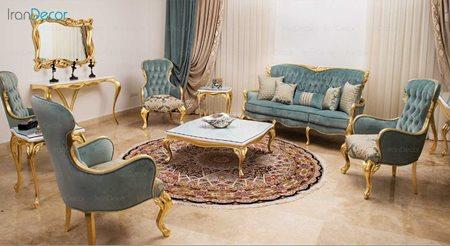سرویس کامل مبلمان کلاسیک مدل لیلیوم از فنسی