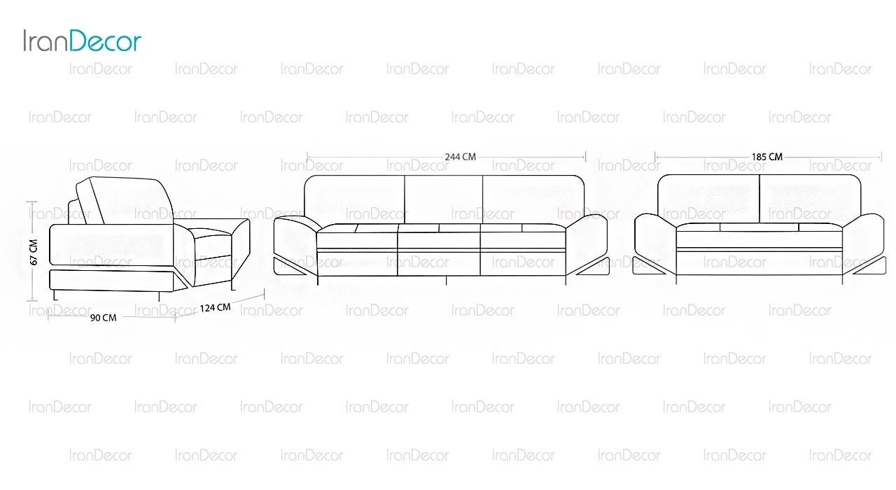 سرویس مبل راحتی مدل VE 0744 از ولنسی