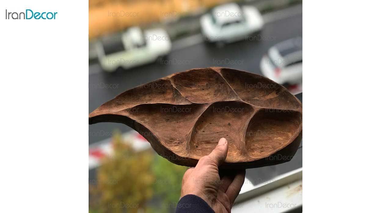 آجیل خوری چوبی طرح برگ مدل 358