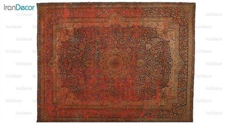فرش دستباف وینتیج نارنجی از ایپک
