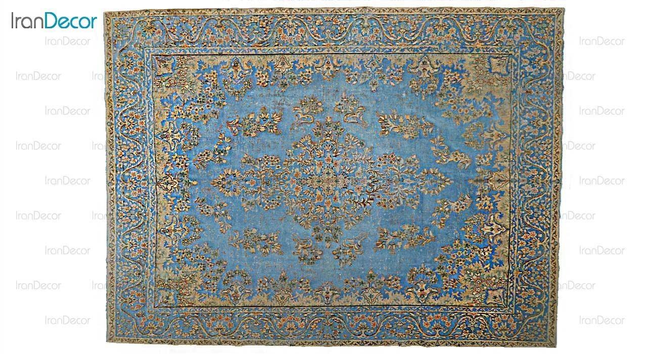فرش دستباف وینتیج آبی از ایپک