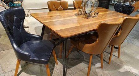 سرویس ناهار خوری چوبی شش نفره مدل سالونی از یاشیل