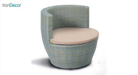 تصویر صندلی باغی حصیری مدل ارکید از بورنووی