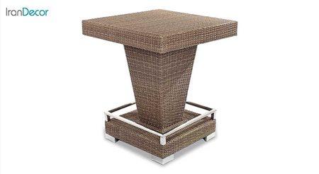 تصویر میز بار مربع حصیری تمام بافت مدل 14032 از بورنووی
