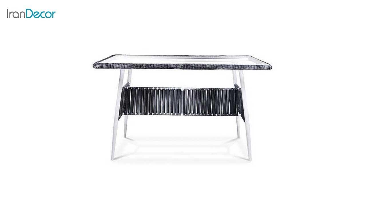 میز غذاخوری باغی حصیری مدل موناکو 14047 سایز 80 × 125 از بورنووی