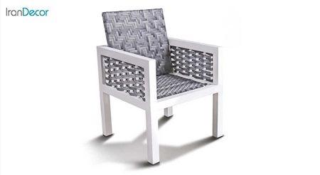 تصویر صندلی باغی حصیری مدل برنا از بورنووی