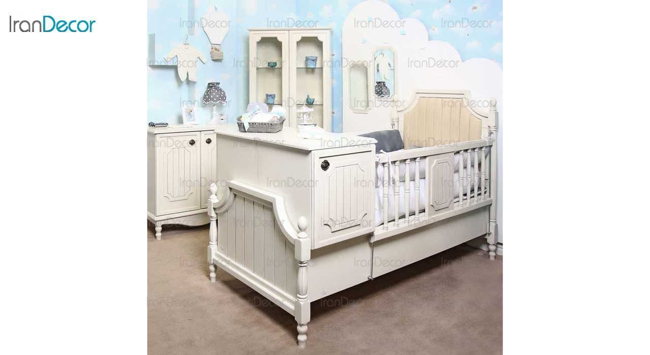 سرویس خواب نوزاد مدل الای از گامرون چوب