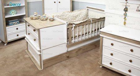 سرویس خواب نوزاد مدل پاشا از گامرون چوب