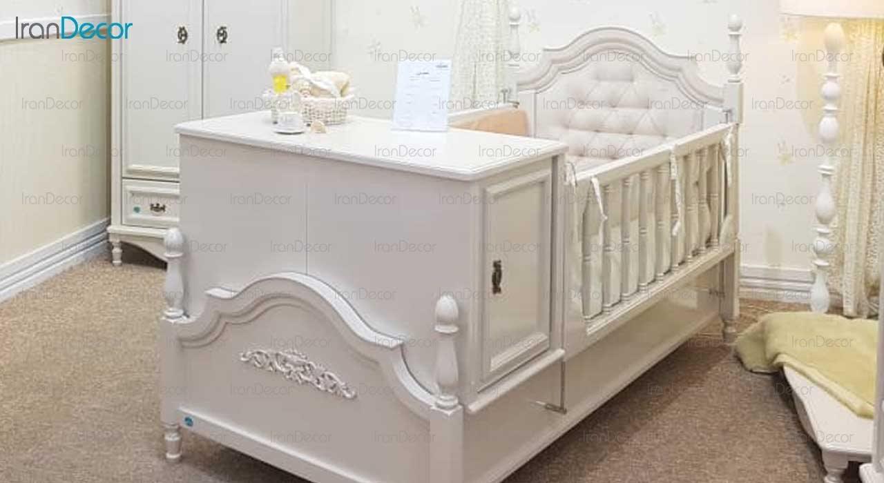 سرویس خواب نوزاد مدل سوین از گامرون چوب
