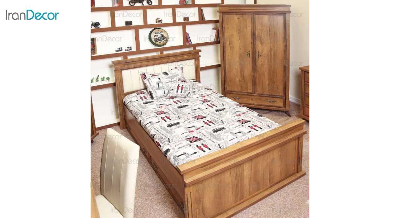 تخت خواب نوجوان مدل المپیا از گامرون چوب