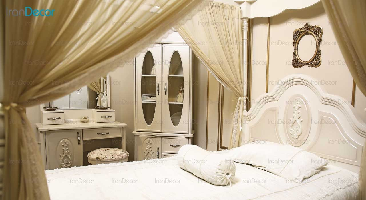 تخت خواب نوجوان مدل آسنا از گامرون چوب