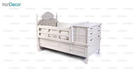 تخت خواب نوزاد مدل آرکانا از گامرون چوب