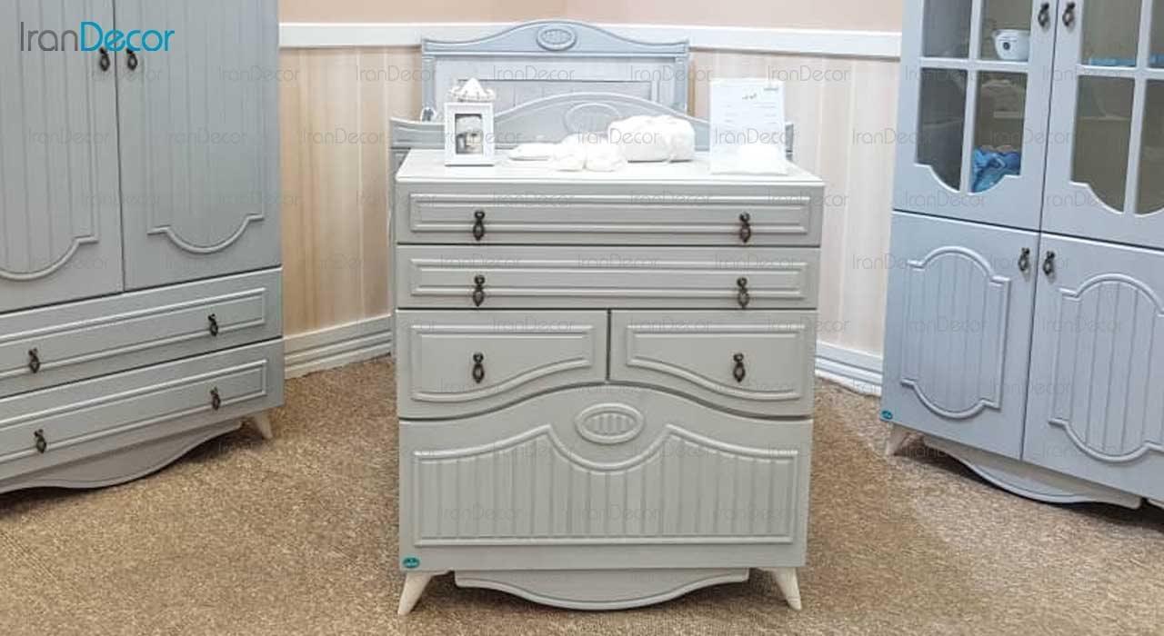تخت خواب نوزاد مدل الوین از گامرون چوب