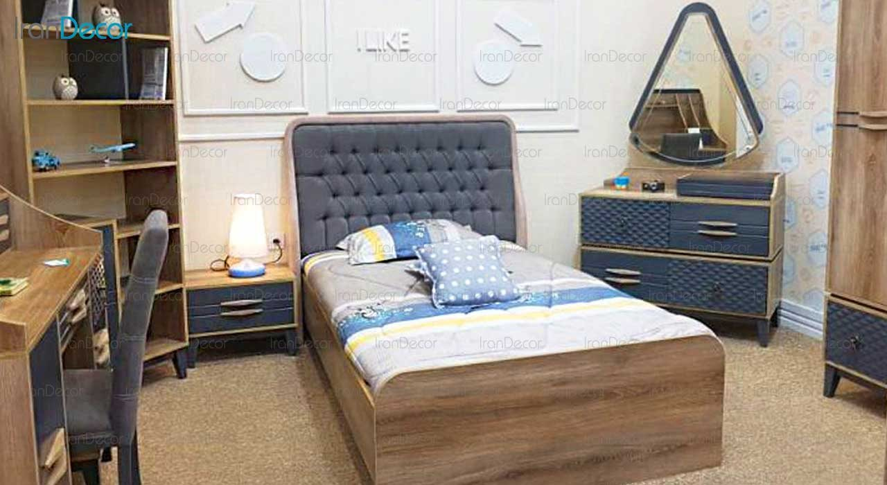 سرویس اتاق خواب نوجوان مدل تانسو از گامرون چوب