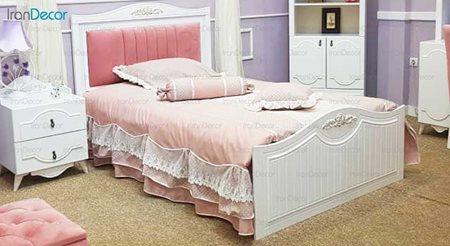 تخت خواب نوجوان مدل الوین از گامرون چوب