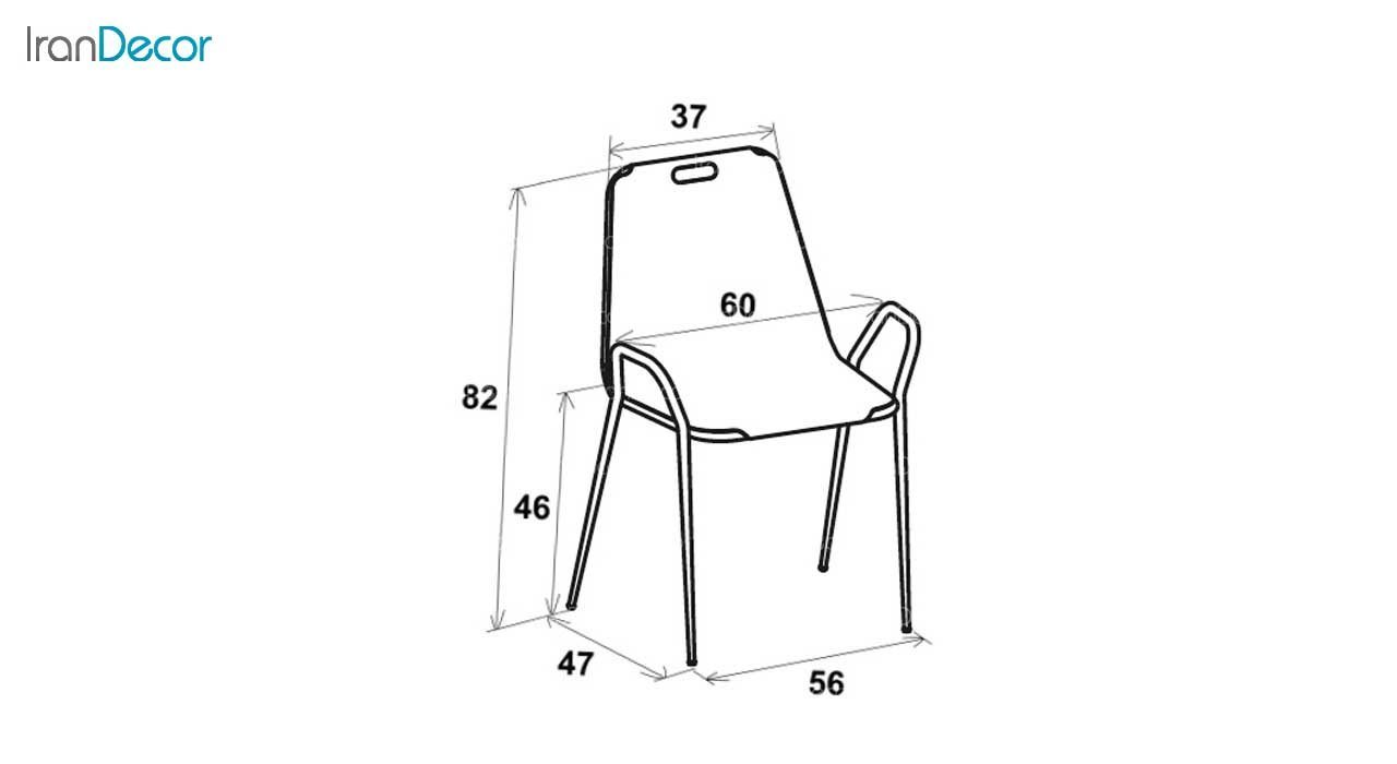 سرویس میز مربع و صندلی فلزی مدل نسیم از نهال سان