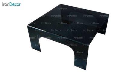 میز جلو مبلی شیشه ای دودی مدل آذین از اطلس