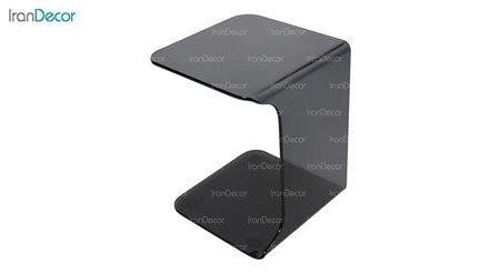 میز بغل مبلی شیشه ای دودی مدل بهار از اطلس