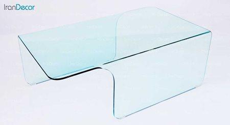 میز جلو مبلی شیشه ای بی رنگ مدل خورشید از اطلس