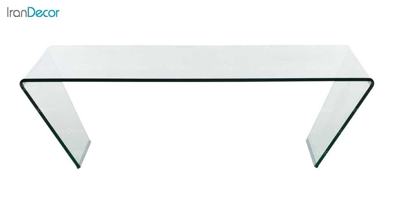 میز جلو مبلی شیشه ای بی رنگ مدل ستاره از اطلس
