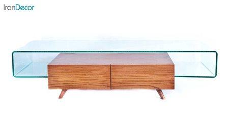 میز تلویزیون شیشه ای مدل کهربا از اطلس